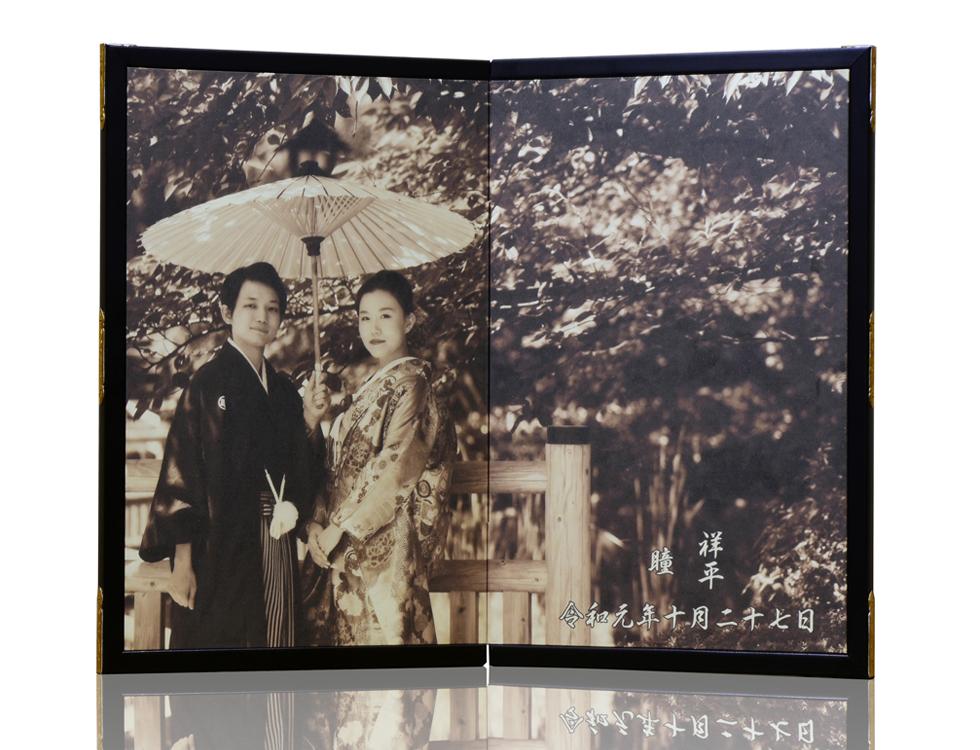 2曲 ウェルカム屏風 H54cm×W32cm