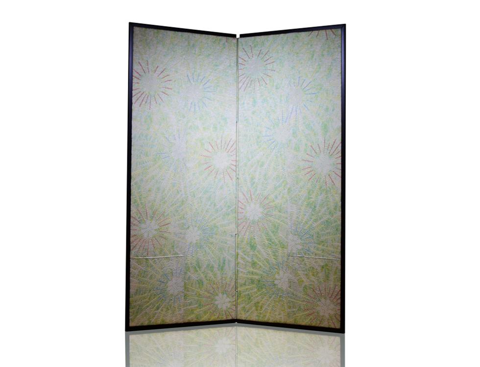 2曲 絞り屏風 H150cm×W50cm